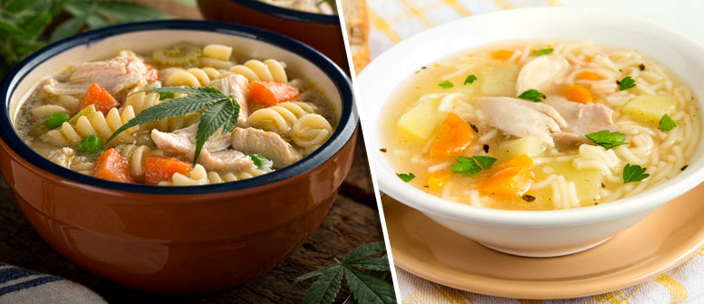 EAT CHICKEN NOODLE SOUP OR OTHER SOFT FOODS