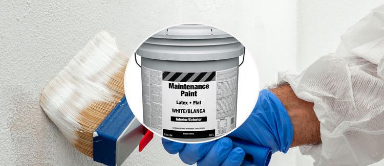 3. peinture blanche mate au latex
