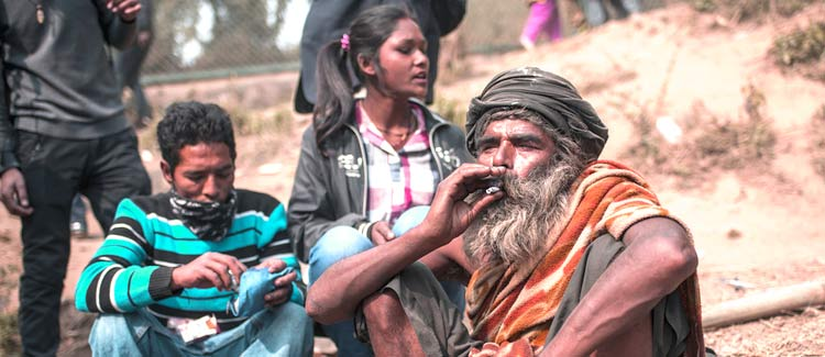 Sadhu link to cannabis