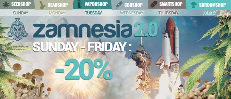 "Zamnesia launches ""ZAMNESIA 2.0"" - Huge discounts!"
