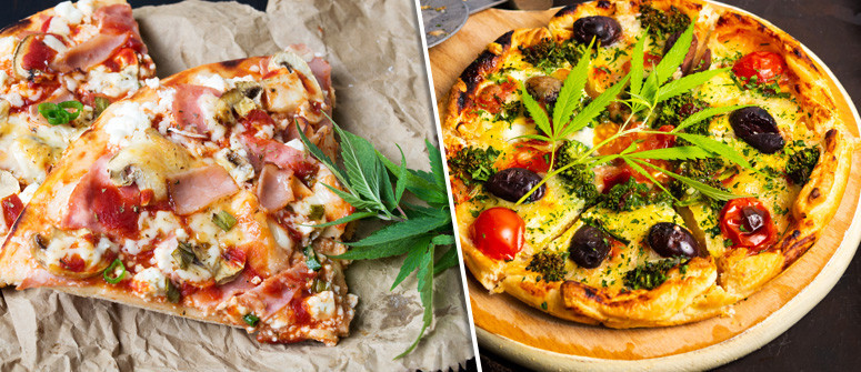 Cannabis-infused pizza recipe