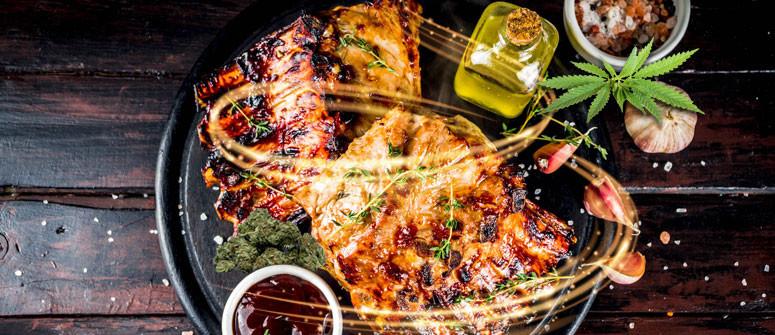 Smoked barbecue cannabis pork ribs recipe