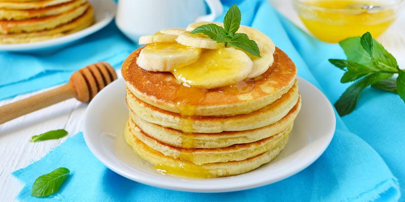 Banana canna-pancakes